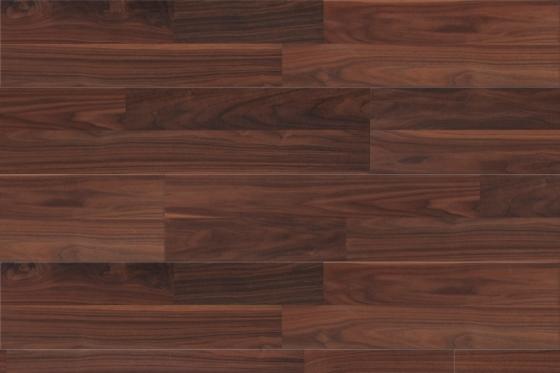 Universal Easy Click Walnut 2 Strip Laminate Flooring