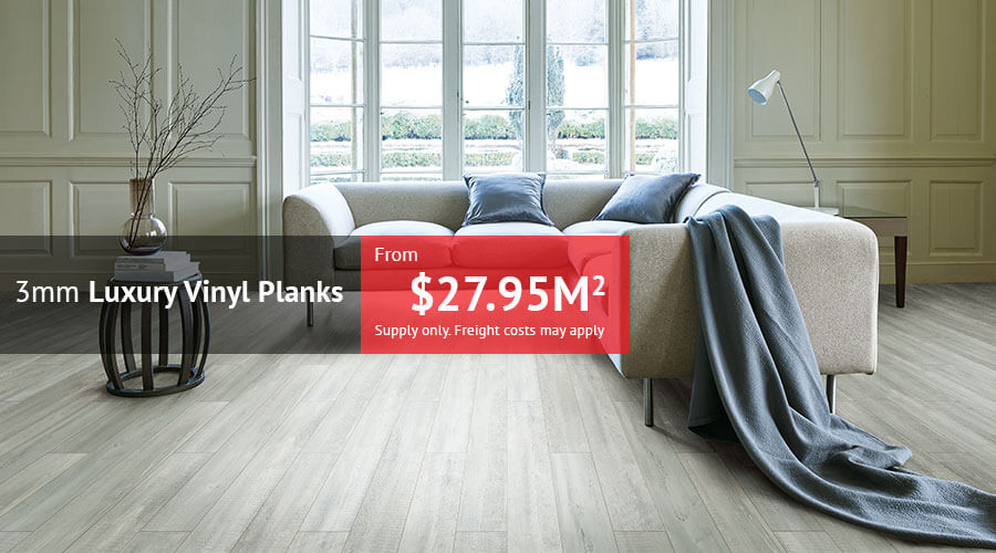 3mm Luxury Vinyl Planks from just $27.95m2 supply only. Freight costs may apply.
