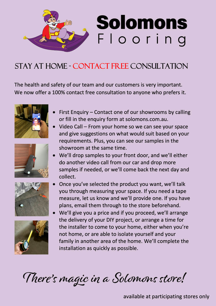 Stay at Home – Contact Free Consultation